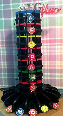 braccialetto meg fluo con iniziale