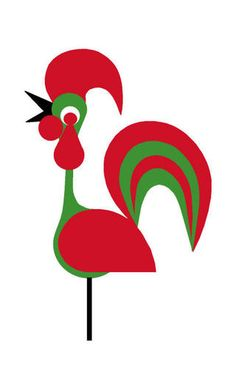 Portugese Rooster. I'd kill to have this print. Loving it!