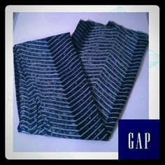 NWOT Gap Scarf Two shades of blue. Off white design. Frayed edges. 100% Cotton. Long. GAP Accessories Scarves & Wraps
