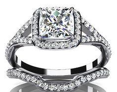 $2,750  -  * EGL CERTIFIED * 1.35 CARATS PRINCESS CUT DIAMOND SPLIT SHANK HALO BRIDAL SET ON 14K SOLID WHITE GOLD F 26 D http://www.amazon.com/dp/B00OU7GNE6/ref=cm_sw_r_pi_dp_dTNyub0SDXREJ