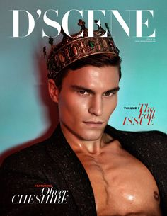 Cover story of our print magazine D'SCENE Magazine featuring supermodel Oliver Cheshire (SELECT Model Mgmt London) photographed by Neil O'Keeffe with styling from our fashion editor Christopher Maul. Oliver Cheshire, Fashion Mag, Fashion Photo, Editorial Fashion, Men Fashion, The Happy Prince, Male Crown, Cover Boy, Male Makeup