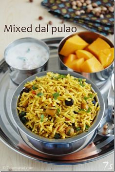 7aum Suvai: Mixed dal pulao / Mixed lentil rice