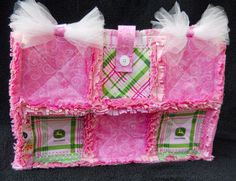 Pink Diaper Bag John Deere Girl Handbag Purse Baby by Wishfulgifts, $30.00