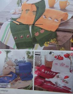 GRAFICOS PUNTO DE CRUZ GRATIS : TOALLAS,PAÑOS COCINA(41) Christmas Stockings, Apron, Cross Stitch, Gift Wrapping, Holiday Decor, Blog, Gifts, Cross Stitch Flowers, Painting On Fabric