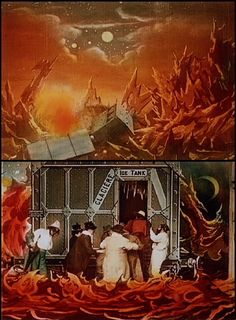 hand-tinted film from the impossible voyage, directed by georges méliès, 1908.
