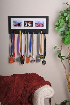Black Sport Medal display with photo frame by StorageAndDisplay, $65.00