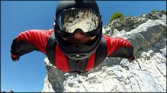 BASE Jumping Wingsuit flying