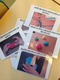 Fiches pour les ateliers pâte à modeler en autonomie | La Maternelle De Wendy