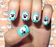 9 Pretty Sheep Nail Art Designs  #nails #nailart #naildesign