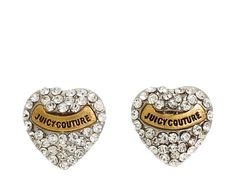Authentic Juicy Couture Heart earrings Adorable crystal encrusted heart earrings with Juicy Couture on the front and classic Juicy backs. Perfect condition and just right when you want something subtle. Heart Earrings, Stud Earrings, Juicy Couture Jewelry, Diamond Are A Girls Best Friend, Diamond Heart, Crystals, Accessories, Couture Boutique, Sparkles