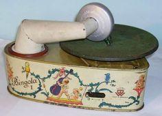 Bing Bingola I tin-plate toy gramophone Phonograph 1920-