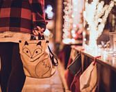 Fox Backpack, Aminal Backpack, Embroidered Waterproof Backpack, Small Bag, Toddler Backpack, Backpack for kids, Childerns Bag,Forest Animal