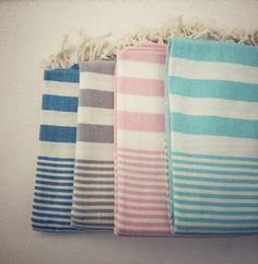 The Karinna - Hammam Towel. Hand-loomed 100% cotton hammam towels in beautiful colours and stripes.