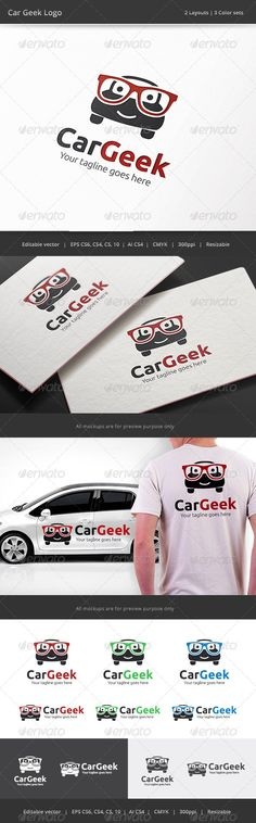 Car Geek Logo — Vector EPS #branding #garage • Available here → https://graphicriver.net/item/car-geek-logo/8176097?ref=pxcr