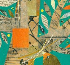 Gathering Twigs ORIGINAL PAINTING birds in a by ElizabethRosenArt