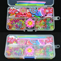Mix Charms Pendant+S-Clips+C-Clips+Hook+Box Kit For Rainbow Loom Rubber Bands