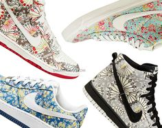 Nike collaborates with Liberty of London 2011.