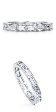 Sterling Silver CZ Wedding Anniversary Eternity Band Ring #R389