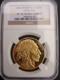 Catawiki Online-Auktionshaus: USA - 50 Dollar 'Buffalo' Gold im Tuch Buffalo, 50th, Gold, Personalized Items, Usa, Auction, Water Buffalo, Yellow