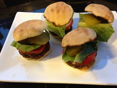 These lil burgers are so easy to make, it is too good to be true. They can be prepared in advance, and they are extremely tasty.