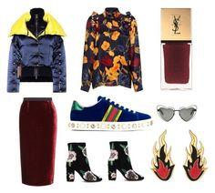 """""""velvet on the ground"""" by juliaeditor ❤ liked on Polyvore featuring Versace, Mother of Pearl, Roland Mouret, Rebecca Minkoff, Yves Saint Laurent, AMBUSH and Gucci"""