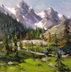 """Daily Paintworks - """"The Mountain Remodel Challenge """" - Original Fine Art for Sale - © Mostafa Keyhani"""