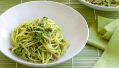 Spaghetti aux brocolis et jambon