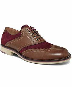 Johnston & Murphy Ellington Wing-Tip Lace-Up Shoes