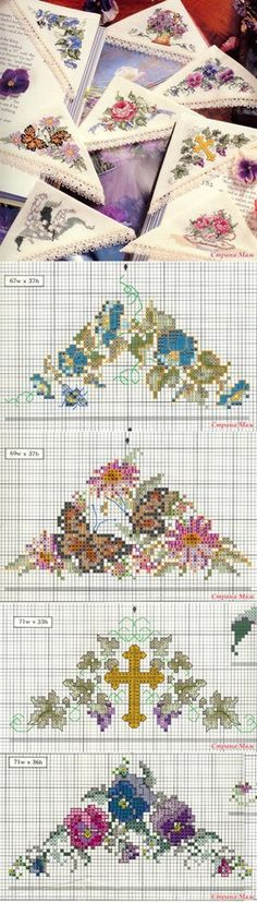 "Collection of bookmarks on a corner - Biskornya and others ""кривульки"" - Country of Mothers Cross Stitch Bookmarks, Cross Stitch Books, Just Cross Stitch, Cross Stitch Borders, Cross Stitch Flowers, Cross Stitch Designs, Cross Stitching, Cross Stitch Embroidery, Hand Embroidery"