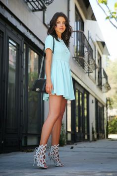 TIFFANY BLUE :: OPENING CEREMONY APEX DRESS  VivaLuxury