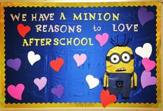 "February's board ""We have a minion reasons to love Afterschool"""