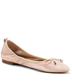 9a341b4f453 Jessica Simpson Nalan Leather Bow Slip-On Ballet Flats