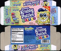 Frankford Candy - Nickelodeon - Spongebob Squarepants Gummy Krabby Patties Colors - candy box - 2011 | Flickr - Photo Sharing!