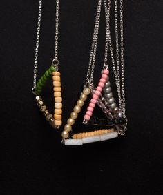 Long Geometric Bar Necklace byZacho on Etsy