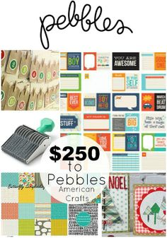 AWESOME $250 package of American Crafts Pebbles paper and fun accessories!! Read more at http://tatertotsandjello.com/2013/12/great-ideas-christmas-brunch-recipes.html#rx5DGrV0yhS3R2xr.99
