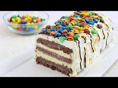 M&M Ice Cream Cake- Cremige Eistorte mit M&M's - amerikanisch-kochen.de