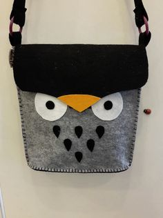 felt owl bag, so cute.