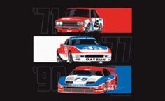 Datsun Undefeated poster by 8380 Laboratories - Datsun 510 Trans Am 2.5 Challenge series victories in 1971 & 1972 caused America to take notice. The Z piled up SCCA & IMSA victories in the 70's & 80's, driven by the likes of Sam Posey & Paul Newman. In the 90's Steve Millen won 2 IMSA GTS Driver's championships in the 300ZX Twin Turbo.