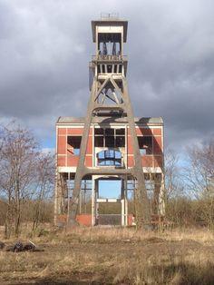 Oude Mijnschacht, Eisden, Zuid-Limburg.