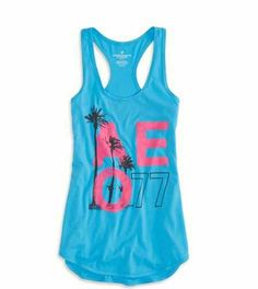 AE Graphic Racerback Tank, very cute. Would be a cute in California, Florida, or on vacation.