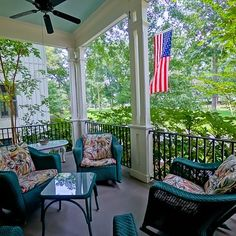 Continuing our #frontporch theme this week, have a look at 14 South Eastover with its distinct, double columns and views of Eastover Park. This Italianate house plan, distinct in #HabershamSC has European design touches inside and out. See the immaculate interior at http://HabershamSC.com/14-south-eastover/ #Beaufort #realestate #SouthernLiving #southernlivinginspiredcommunity