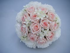 Foam rose bouquet with diamante detail.