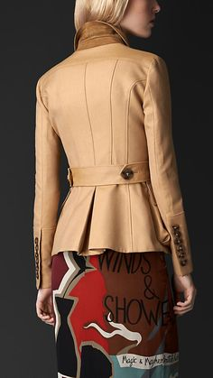 Double Gabardine Bellows Pocket Detail Jacket | Burberry