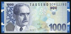 Currency of Austria 1000 Austrian Schilling banknote of 1997, issued by the…