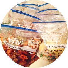 Freezer Crock Pot Meal Prep Day- TAKE TWO