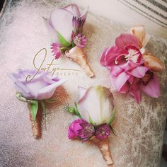 great vancouver florist I love these colours. #justynaevents #vancouverflowers #weddingflowers #floral #flowers #boutonnieres #corsages #details #lavenderflowers #lavenderwedding #orchids #roses #lilac #lilacflowers  #vancouverflorist #vancouverflorist #vancouverwedding #vancouverweddingdosanddonts