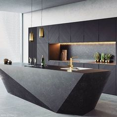 There is a lot of people today, tend to have modern kitchen design ideas for their new house. However, there is a lot of things that you need to know before creating modern kitchen design. Modern Kitchen Interiors, Luxury Kitchen Design, Kitchen Room Design, Modern Farmhouse Kitchens, Kitchen Cabinet Design, Luxury Kitchens, Interior Design Kitchen, Modern Interior Design, Kitchen Ideas