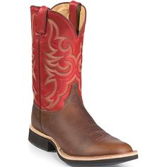 "Brandon's beloved Justin's-bout time for a new pair ""Boots Mens Mahogany Worn Saddle W/chocolate Counter 5538 13EEE"" $200"
