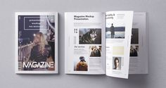 PSD Magazine Mockup Top View to present your design in a photorealistic look. Contains special layers and smart object for your artworks. This free PSD mockup file very easy to edit. Mockups Gratis, Free Magazines, Up Book, Mockup Templates, Flyer, Magazine Design, Brochures, Web Design, Logo Design