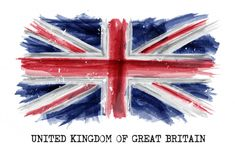 Watercolor Painting Flag Of United Kingdom Of Great Britain UK . Vector Stock Vector - Illustration of country, patriotic: 108927916 Great Britain Flag, Kingdom Of Great Britain, Uk Flag Wallpaper, Norwegian Flag, Deep Box Frames, Flag Painting, Graphic Design Tutorials, London Art, Union Jack